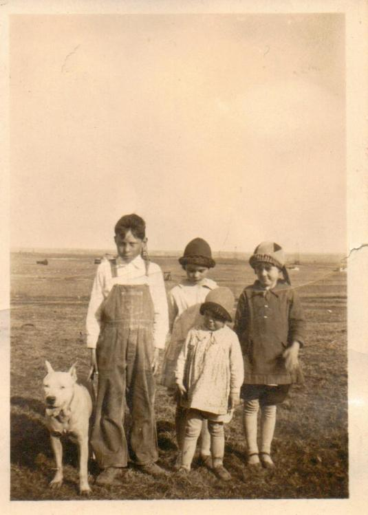 Kids at the old camp in Greenwood County, KS
