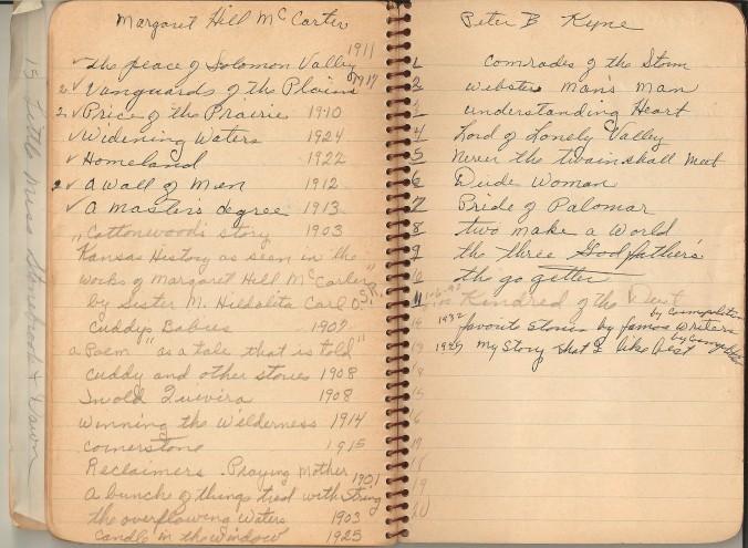 mom's book list notebook
