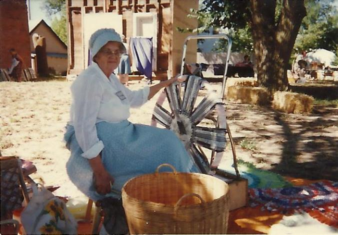 Here's Gail Martin demonstrating the craft at a pioneer days.