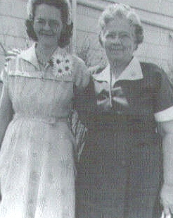 Gail with her mother, Ruth McGhee - Easter Sunday, I believe.