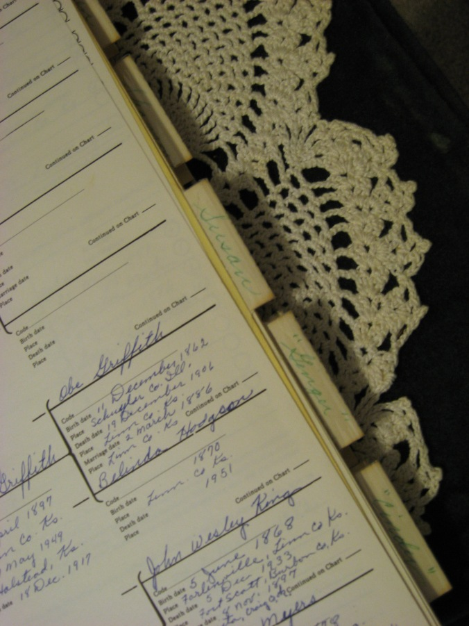 Another example of the genealogy notebooks Gail Lee Martin made for her children.