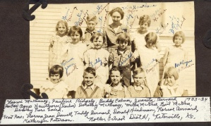 Gail McGhee and Dorothy Rose Laird - 1930s at Noller School, Greenwood County, Kansas