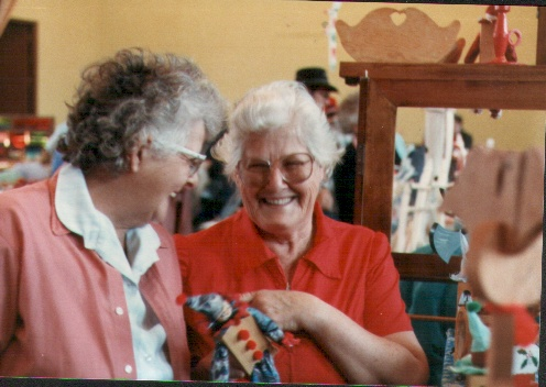 Gail with her sister Melba Harlan
