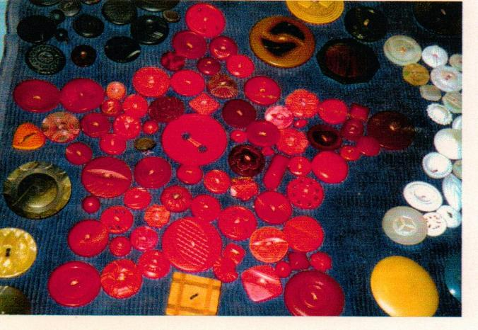 This red star is part of a wall-hanging made by Gail's mother-in-law. Cora Martin had a remarkable button collection. It is now owned by her granddaughter, Vicki.