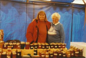 Tonda (on left) and Gail with their canning display.