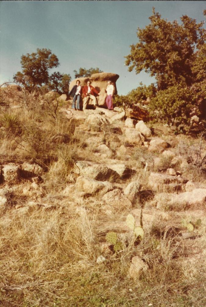 Clyde and Gail Martin at Enchanted Rock in Texas.