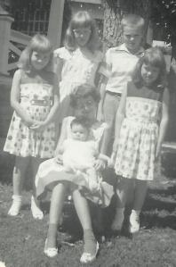 Gail and Clyde Martin's children in 1959. It was Easter Sunday.