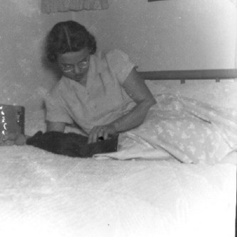 Carol Jean McGhee, in her teens. Her sisters, Melba and Gail were already married by this time.
