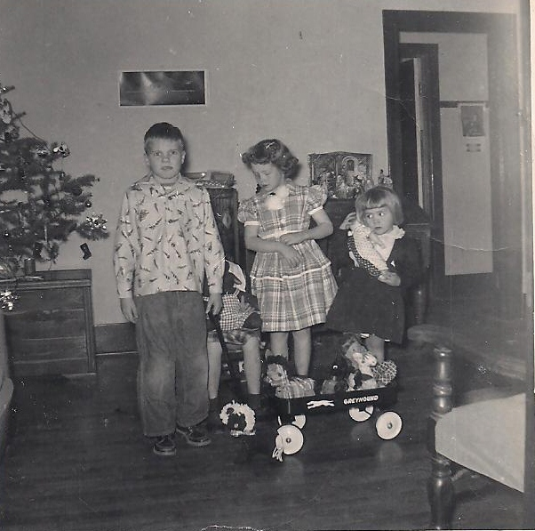 Christmas at the Martin home near Madison, KS in 1954.