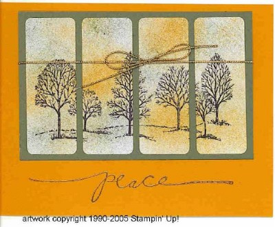 Shannon Martin Hyle created this card using Stampin' Up designs and techniques.