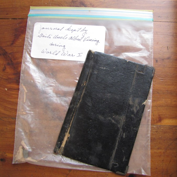Gail's uncle, Albert Vining, left this diary from World War I about his experience in France.