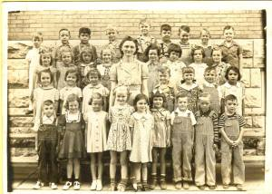 Seeley School, 2nd grade class with Carol Jean McGhee in it.