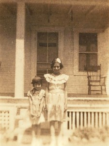 Dorothy Rose and Edna Mae Laird - Greenwood County, Kansas.  Photo from Gail Lee Martin's collection.