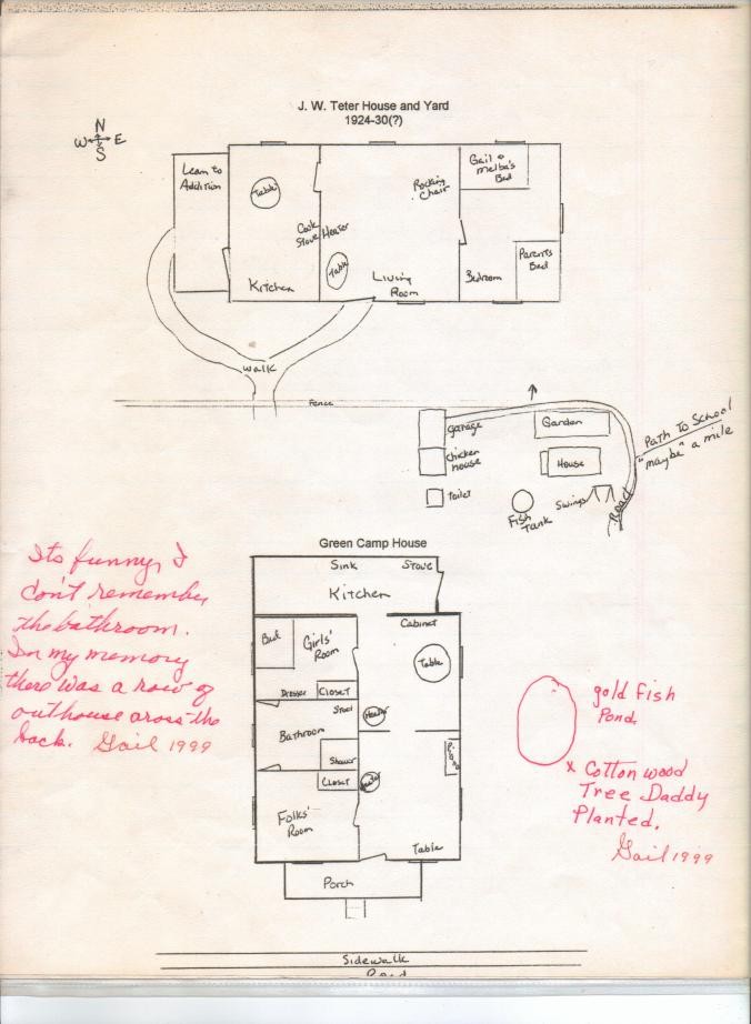 Floor plan of a house from Gail Martin's childhood.