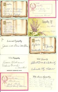 funeral flower cards