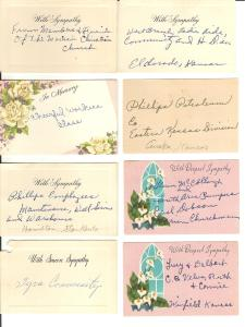 These flower cards are from church groups and places my grandfather worked.
