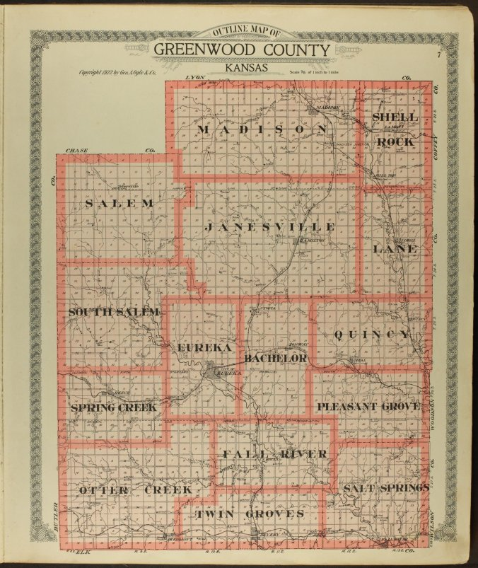 1922 greenwood county map