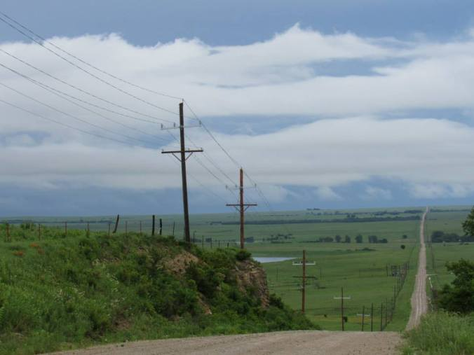 Looking across the Flint Hills from Teter Hill. Photo by CJ Garriott.