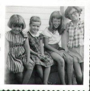 Cindy, Karen, Ginger and Susan - Quite a long time ago, when we lived in the country.