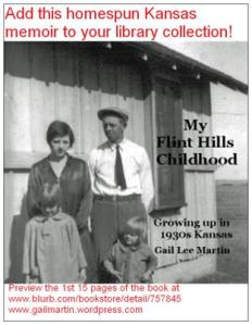 We sent this postcard to libraries in Kansas to promote my mother's memoir.