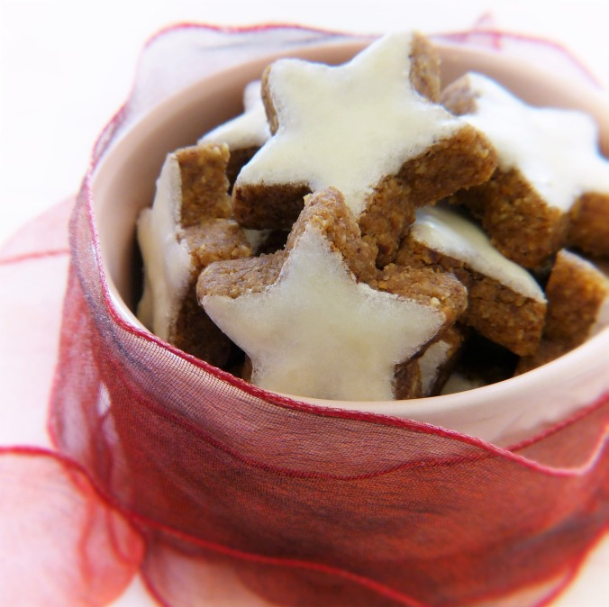 Cinnamon Star cookies with lots of nuts for Christmas