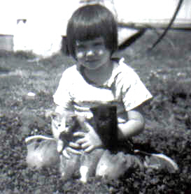 Shannon and the kittens, 1963.