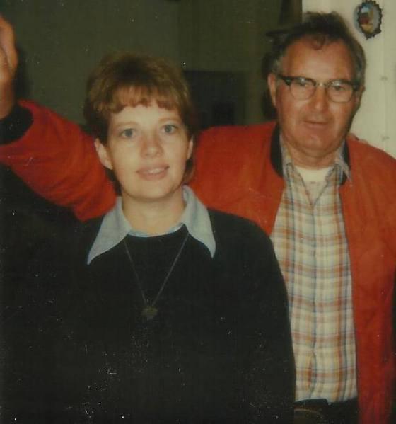 Clyde Martin and daughter Virginia Allain
