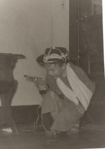 cowboy broken arm 1950s