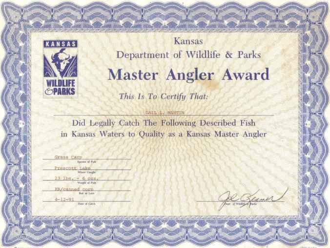 fish certificate