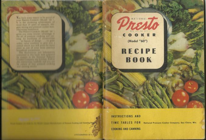 pressure cooker 1 Presto 1946 PC Manual