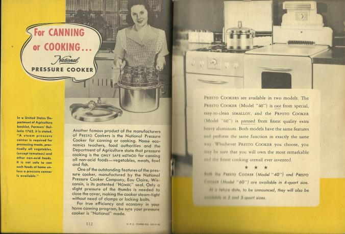 pressure cooker 2 Presto 1946 PC Manual_endpapers