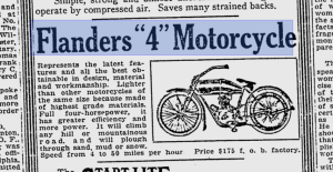 Reading Eagle 1911 flanders motorcycle ad