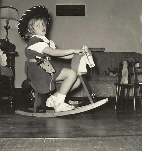 ginger childhood rocking horse cowgirl