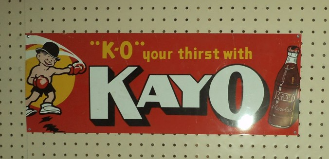 kayo soda tin sign