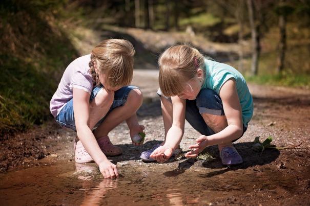 children water woods pixabay