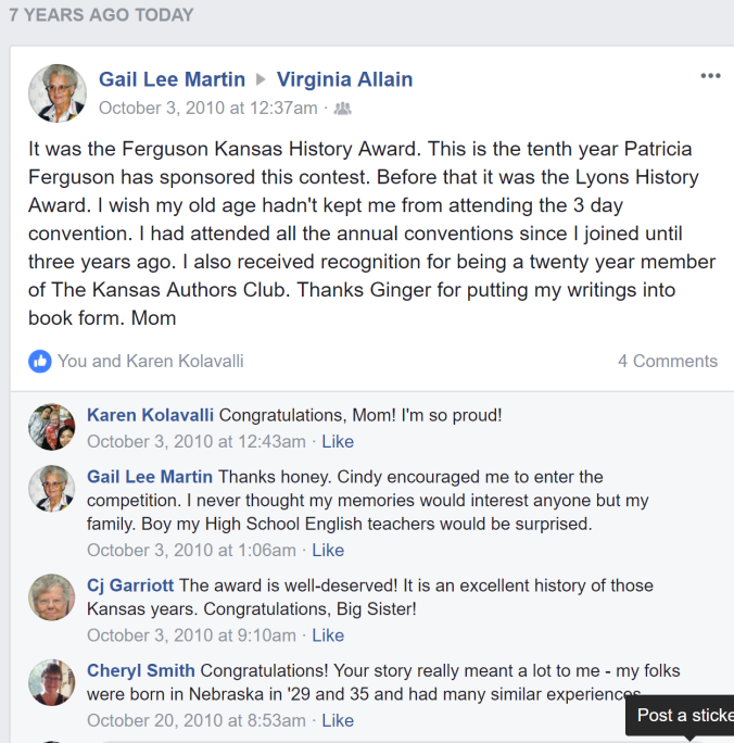 facebook gail ferguson award 2010