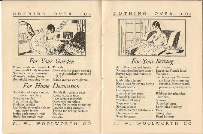 woolworth booklet early 1900