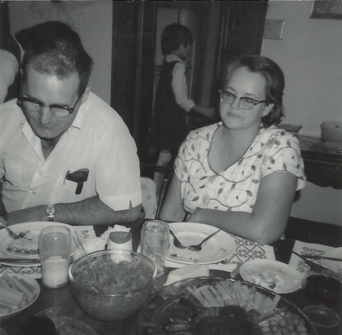 Clyde and Gail Martin just finishing Thanksgiving dinner_Shanno