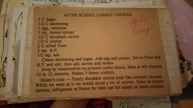recipe carrot cookies