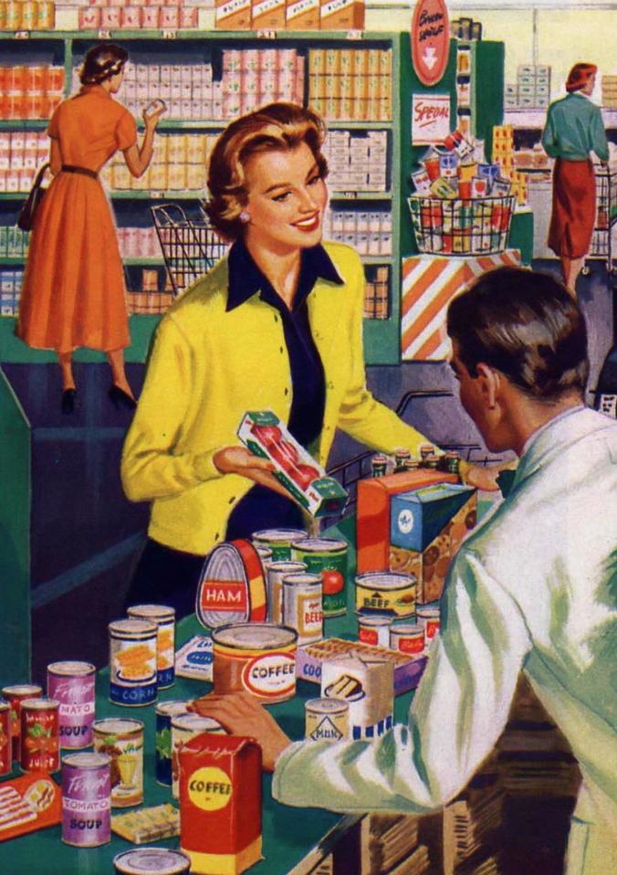 retro-1950 shopping pixabay