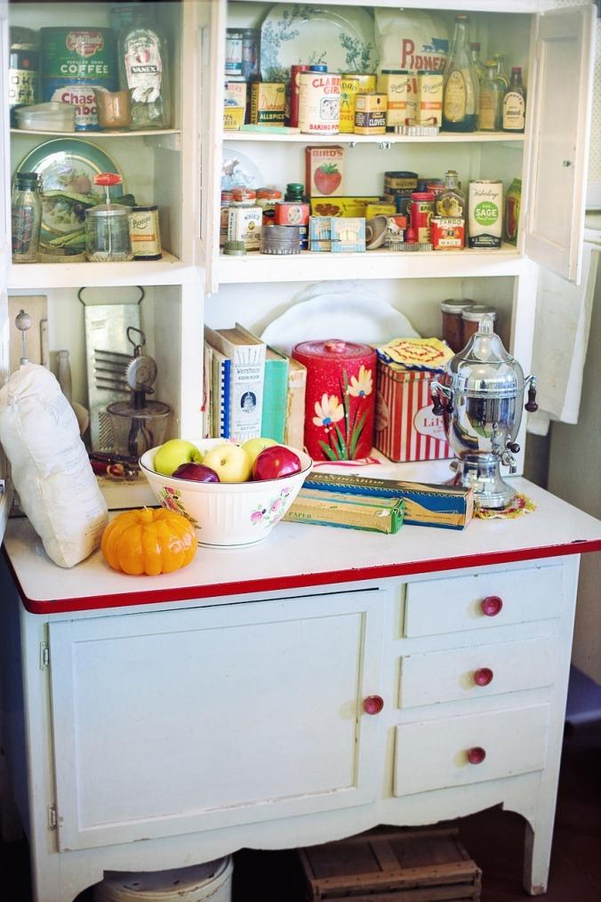 retro-kitchen hoosier cabinet pixabay