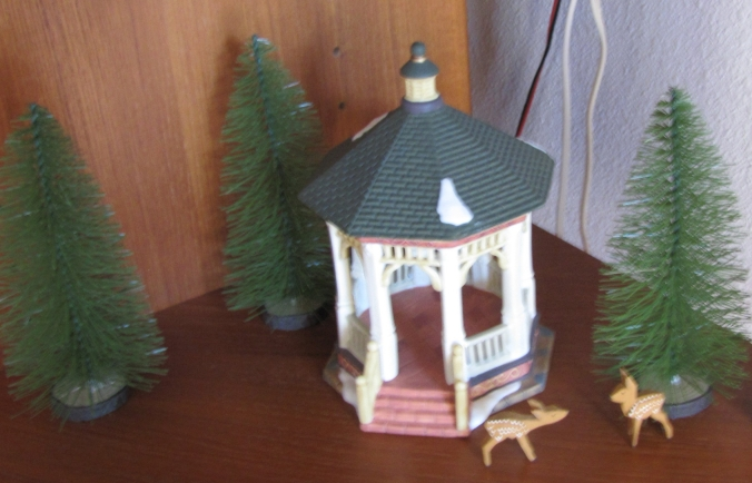 Christmas village gazebo