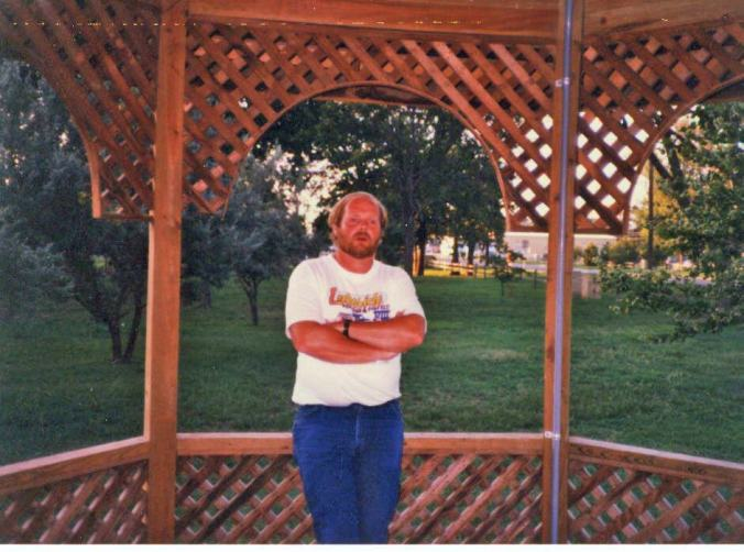 Owen Martin and Gazebo he built in Eldorado