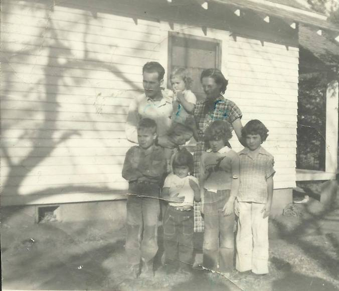 Clyde Martin family on carr street, El Dorado, KS