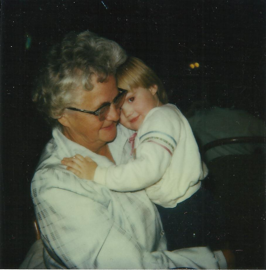 Gail Lee Martin with her grandchild