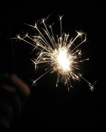 sparkler photo dark background by Virginia Allain