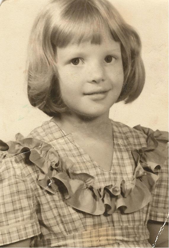Ginger Martin in a ruffled dress - 1950s