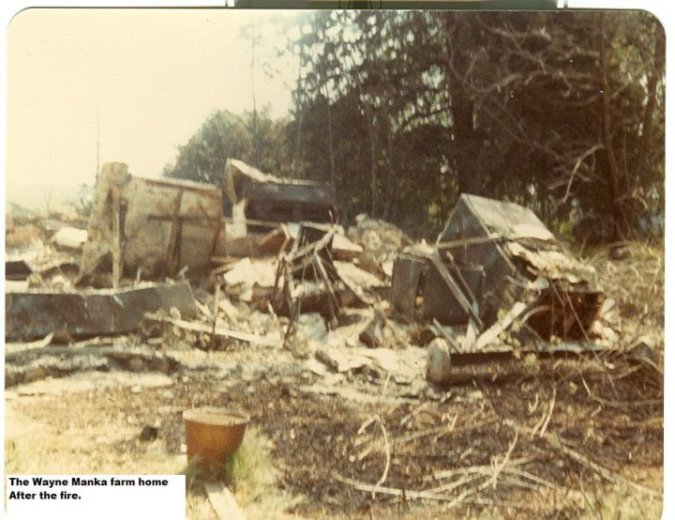 fire destroyed wayne manka farm house