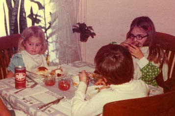 The children's table at Thanksgiving Nov. 1975