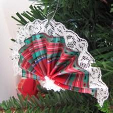Victorian fan Christmas ornament